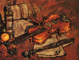 Клод Бонно. Натюрморт со скрипкой
