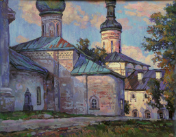 Oleg Borisovich Zakharov. The evening after the rain in Kirillov.