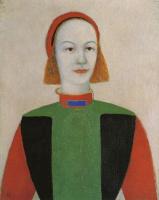 Казимир Северинович Малевич. Голова молодой современной девушки