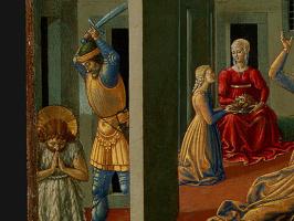 Беноццо Гоццоли. Танец Саломеи (фрагмент)