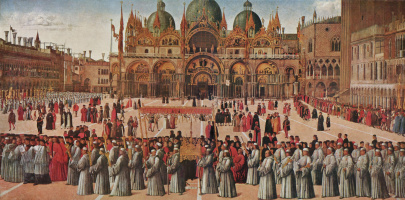Gentile Bellini. Procession in Piazza San Marco