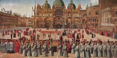 Gentile Bellini. Procession in Piazza San Marco