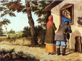 Игнатий Степанович Щедровский. У иконы. 1835