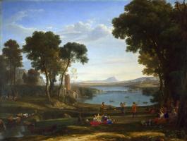 Клод. Пейзаж с женитьбой Исаака и Ревекки