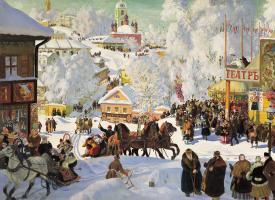 Boris Mikhailovich Kustodiev. Maslenitsa (Pancake ride)