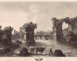Георг Абрахам Хаккерт. Первый вид руин моста Августа в Нарни