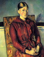 Madame Cezanne in a yellow chair