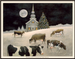 Лоуэлл Эрреро. Рождественские коровы в Вермонте