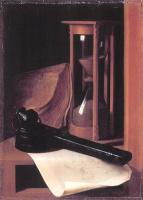 Геррит Доу. Натюрморт из песочных часов, пенала и печати