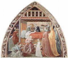 Паоло Уччелло. Фрески собора в Прато, сцена: Рождение Марии