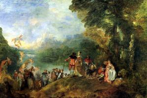 Antoine Watteau. Sail to the island Cicero