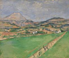 Paul Cezanne. View of the mountain Sainte-Victoire