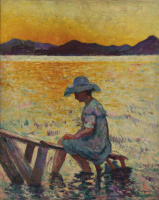 Henri Manguin. Saint-Tropez, sunset
