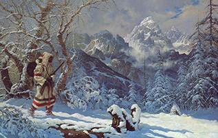 Роберт Саммерс. Заснеженные горы