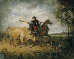 Констан Тройон. Всадник с быком.
