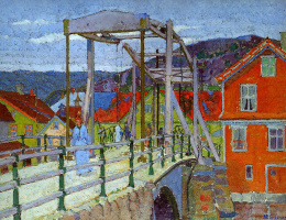 Harold Gilman. Canal bridge, Flekkefjord