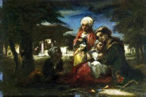 Нарсис Виржилио Диаз де ла Пёнья. Турецкая семья