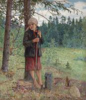 Николай Петрович Богданов-Бельский. Девочка в лесу