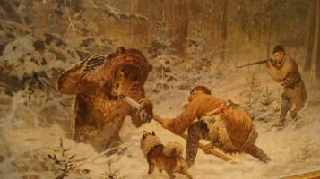 Eugene Alexandrovich Tikhmenev. Bear hunting.