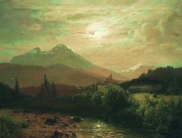 Лев Феликсович Лагорио. В горах. Альпийский пейзаж. 1873