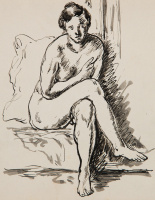Henri Manguin. Nude on pillow (Jeanne's Cousin)