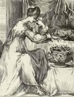 Жак Белланж. Смерть Порции, жены Брута, проглатывающей горящий уголь, чтобы лишить себя жизни