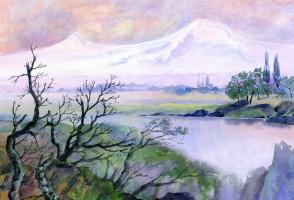 Smbat Arayevich Bagdasaryan. By the Arax River