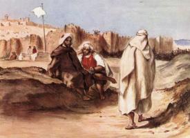 Эжен Делакруа. Арабы перед городом Алжиром