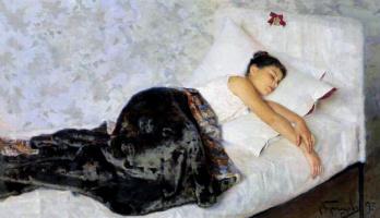 Николай Дмитриевич Кузнецов. Спящая девочка