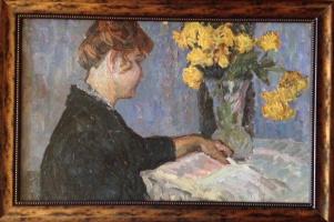 "Boris M. Kuznetsov. ""Woman reading book"""