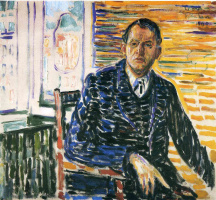 Edvard Munch. Self portrait in hospital Professor Jacobson