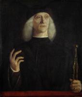 Джентиле Беллини. Портрет мужчины с циркулем