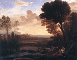 Клод Лоррен. Пейзаж с Парижем