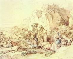 Адриан Людвиг Рихтер. Возвращение крестьян в Чивителлу