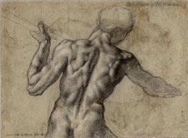 Микеланджело Буонарроти. Битва при Кашине (набросок)