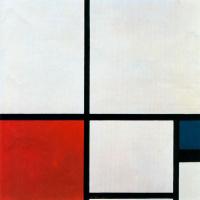 Пит Мондриан. Композиция №1 с красным и синим
