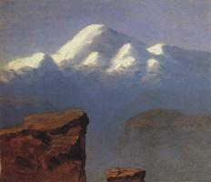 Архип Иванович Куинджи. Вершина Эльбруса, освещенная солнцем