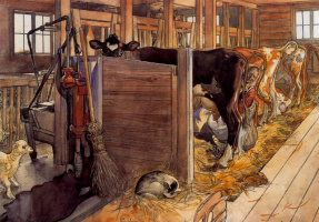 Carl Larsson. Cows