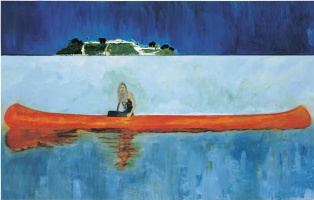 Peter Doig. 100 years ago
