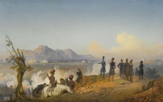 Bogdan Pavlovich Willewalde. Three works depicting the siege of Silistra. 1854