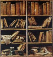 Джузеппе Мария Креспи. Натюрморт с книжными полками