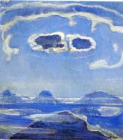 Фердинанд Ходлер. Гора Эйгер в лунном свете
