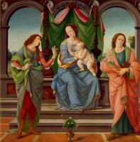 Лоренцо ди Креди. Мадонна с Младенцем и Святыми Себастьяном и Иоанном Евангелистом