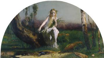 Arthur Hughes. Ophelia