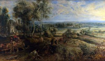 Питер Пауль Рубенс. Осенний пейзаж с видом на замок Стен