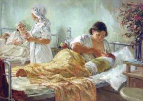 Борис Степанович Жарков (1900-1978). Родился новый человек.1938.