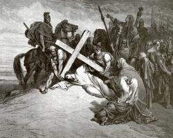 Поль Гюстав Доре. Иллюстрация к Библии: На Голгофе
