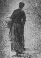 Жорж Сёра. Женщина с корзиной