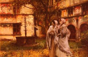 Витторио Каваллери. Элегантные путешественники в итальянском монастыре