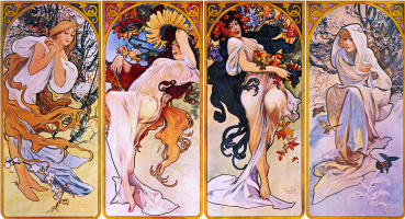 Alphonse Mucha. Seasons